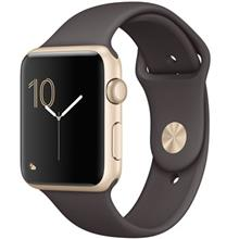 Apple Watch 42mm Gold Aluminum Case with Cocoa Sport Band
